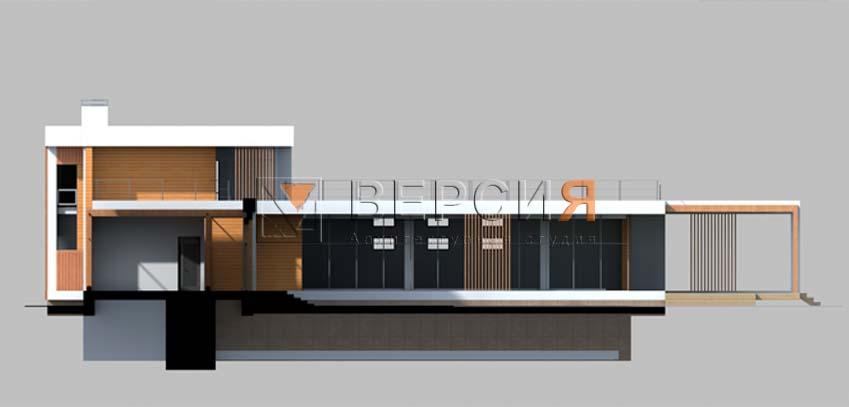 загородный современный дом проект