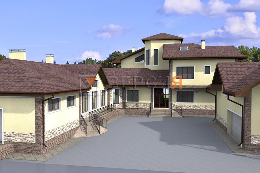 проект дома с гара