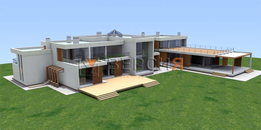 проект загородного современного дома