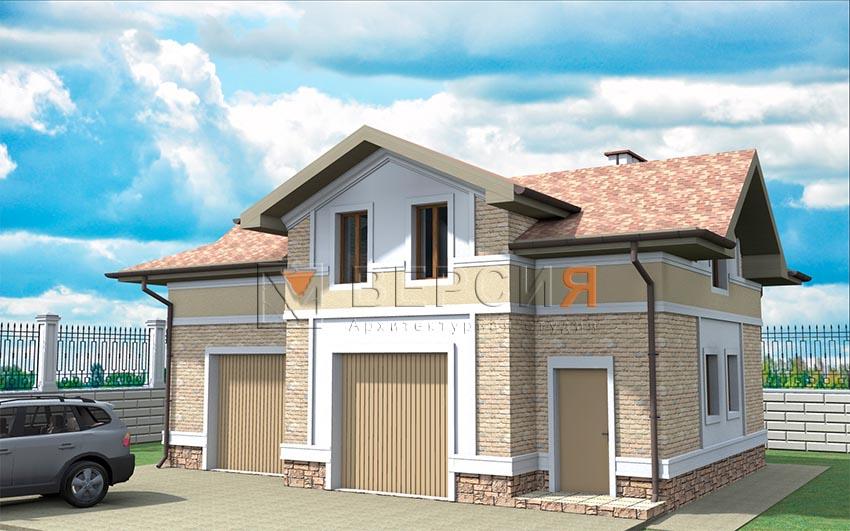 дом с гаражом проект