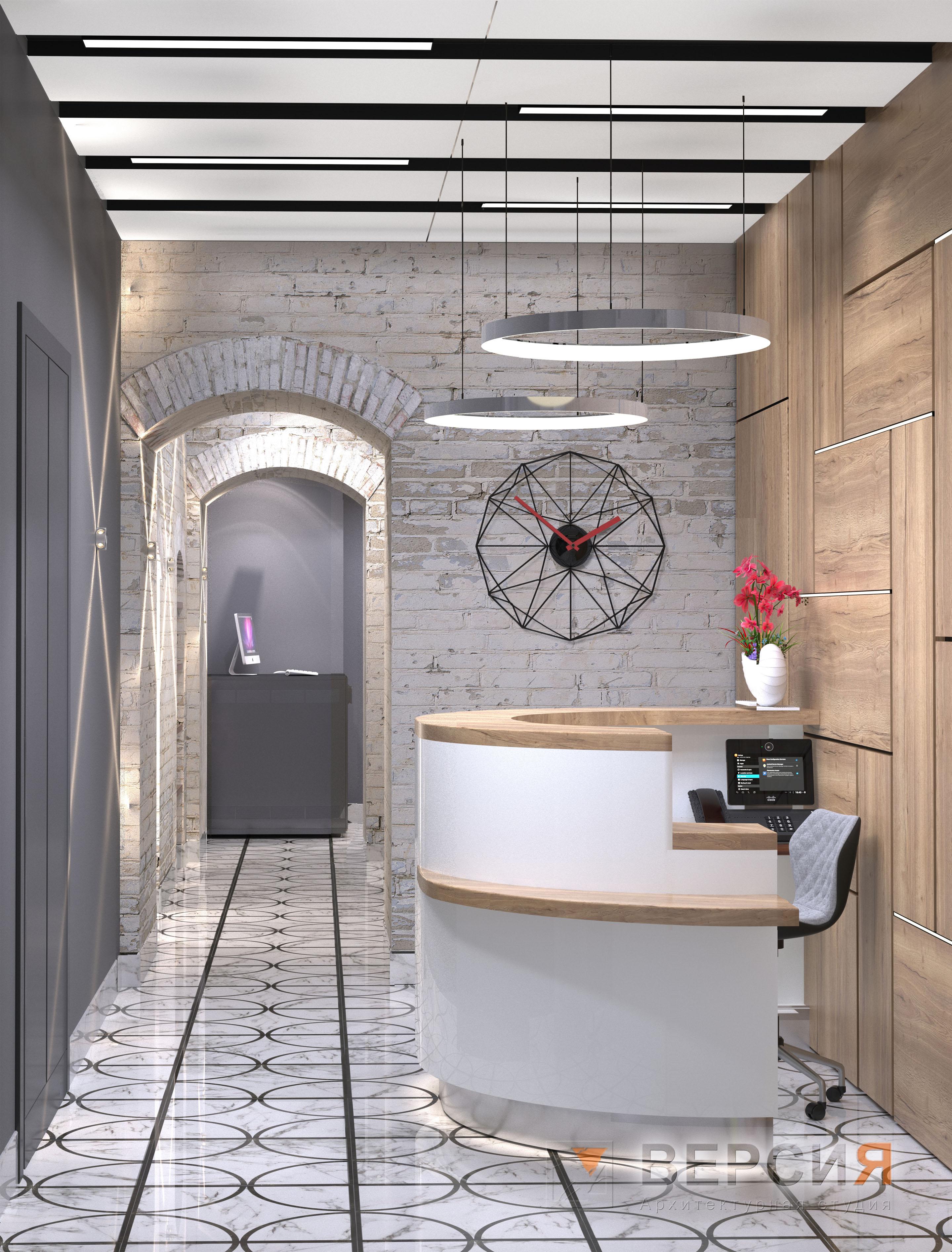 Холл офиса лофт