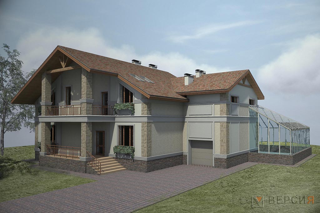 дом с оранжереей