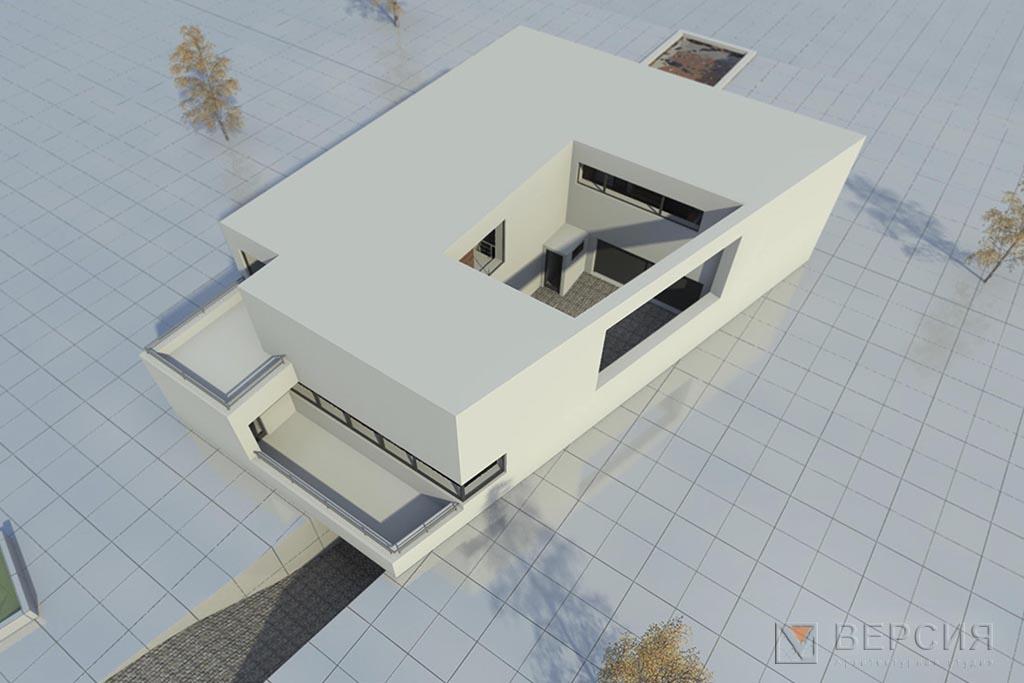 проект дома минимализм