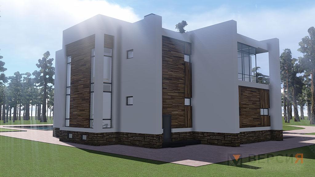 Загородный современный дом